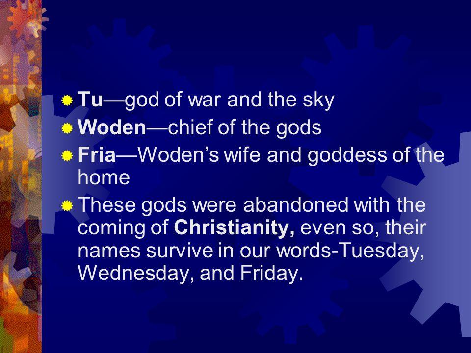 Tu—god of war and the sky