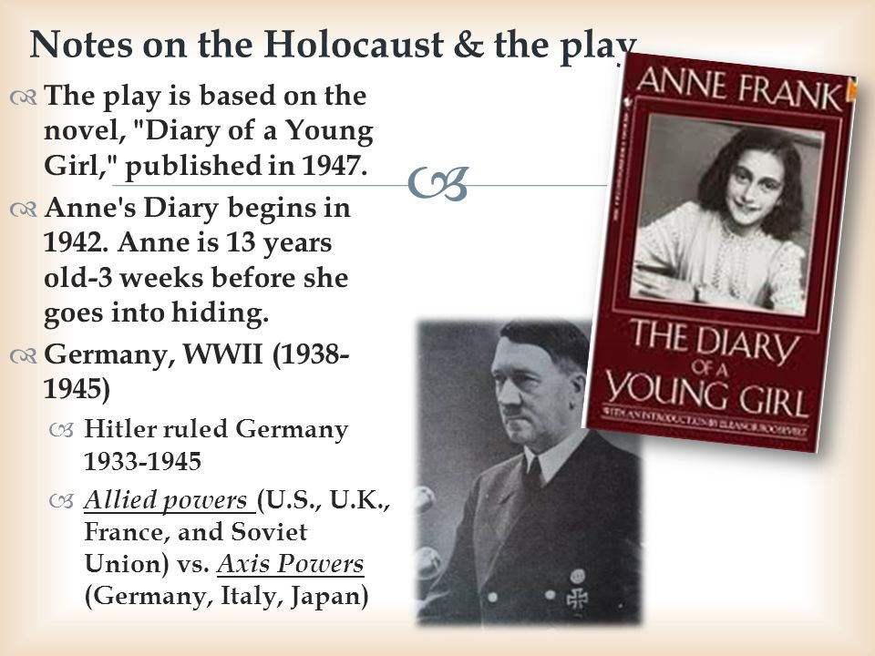 Notes on the Holocaust & the play