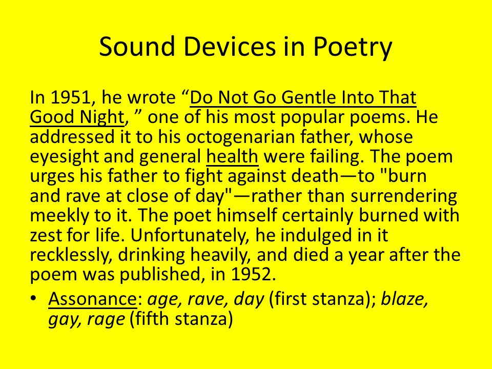 An Analysis Of The Poem Do Not Go Gentle Into That Good Night And
