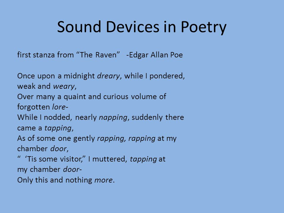 Sound Devices in Poetry