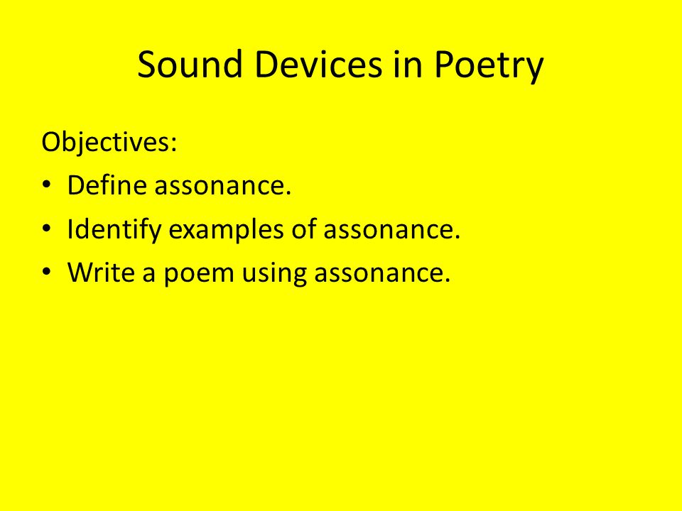 how to use assonance in poetry