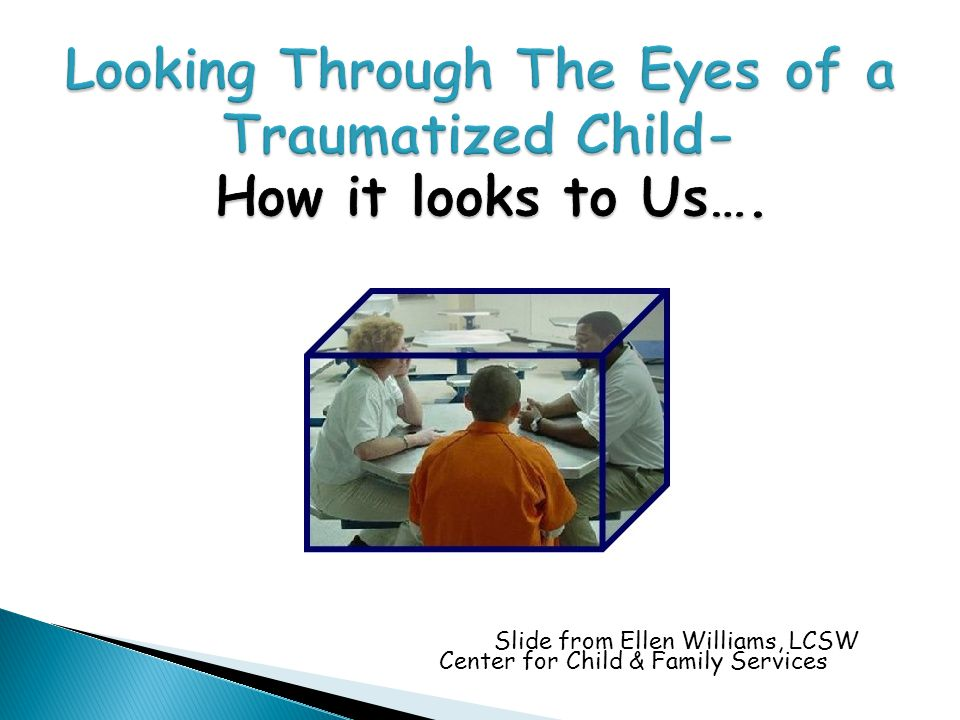 Looking Through The Eyes of a Traumatized Child- How it looks to Us….