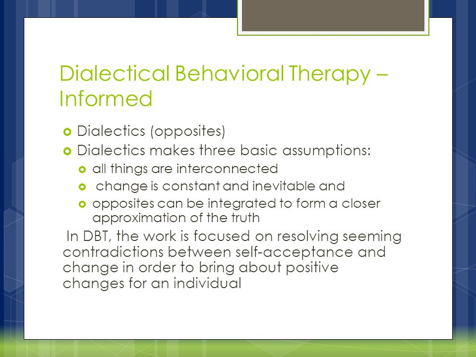 Dialectical Behavioral Therapy – Informed