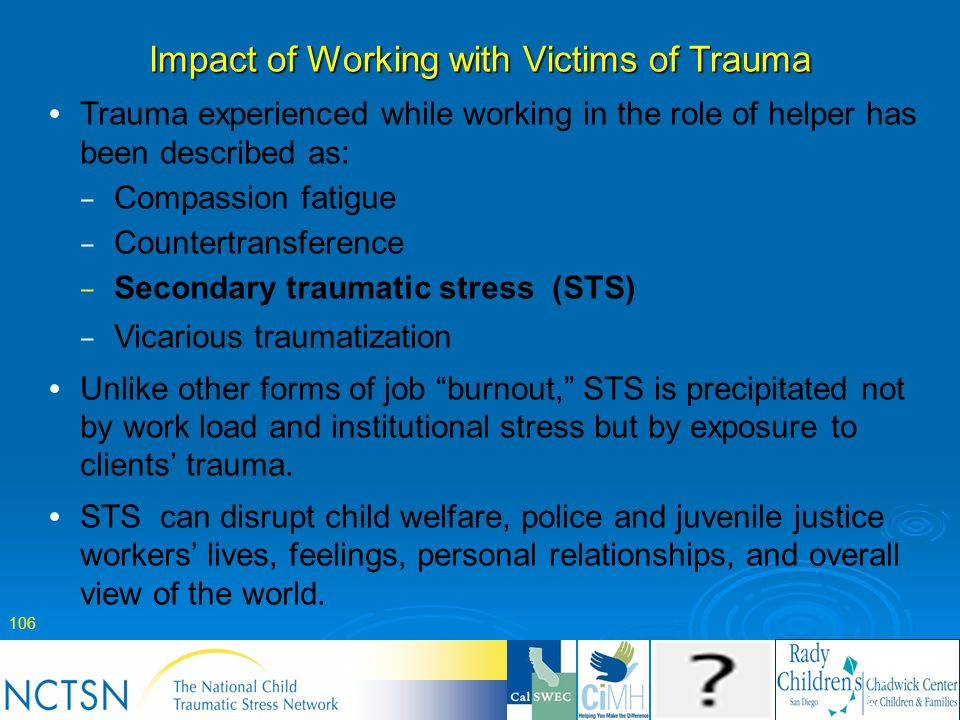Impact of Working with Victims of Trauma