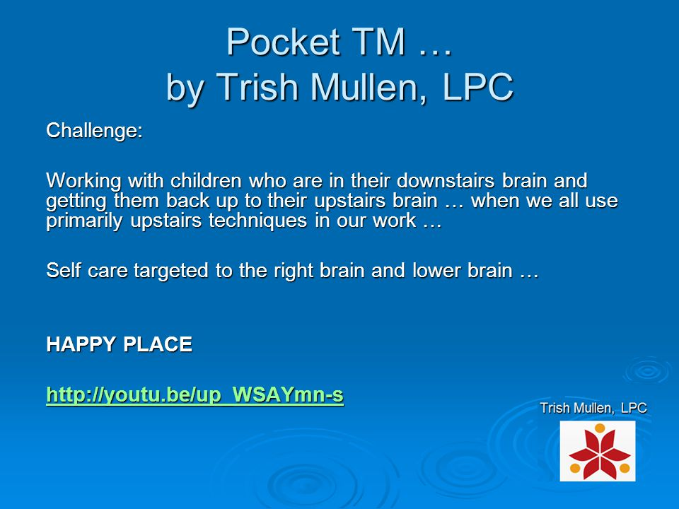 Pocket TM … by Trish Mullen, LPC