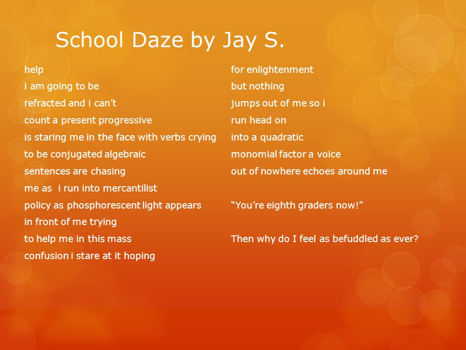 School Daze by Jay S.
