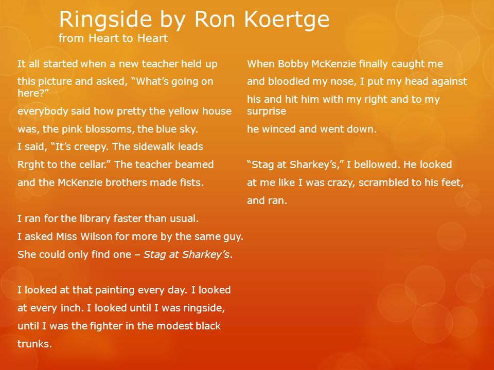 Ringside by Ron Koertge from Heart to Heart