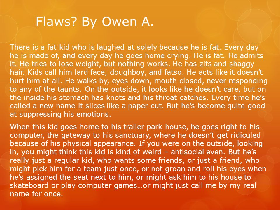 Flaws By Owen A.