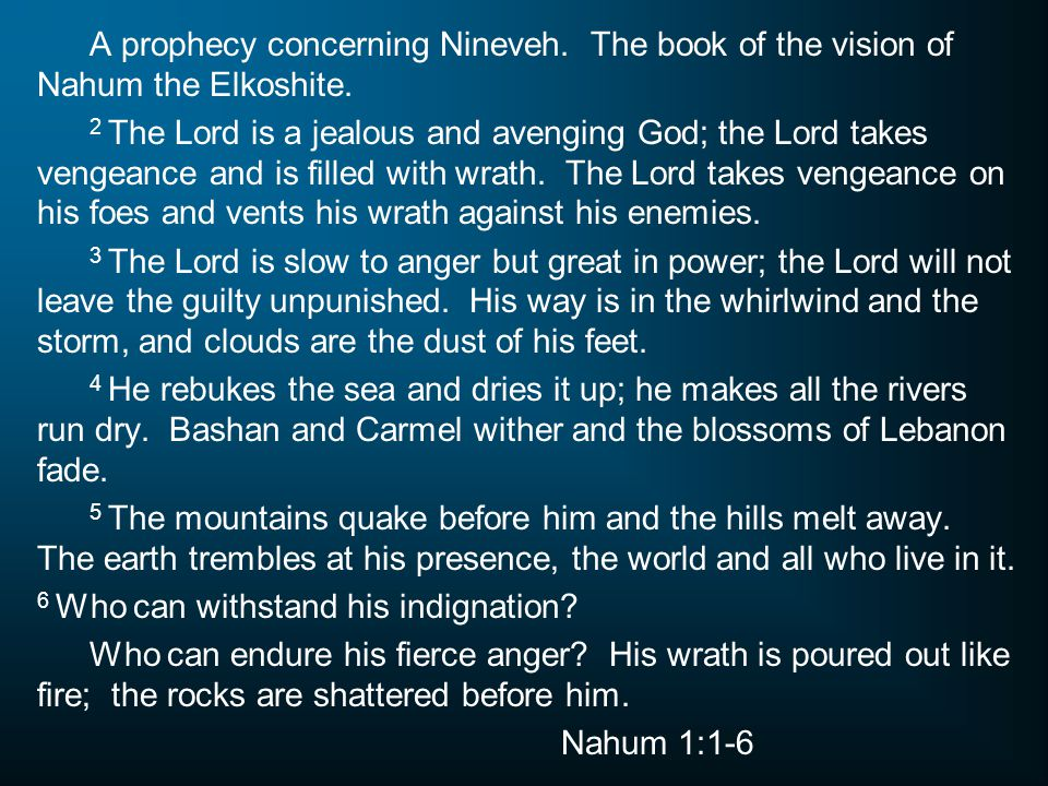 A prophecy concerning Nineveh