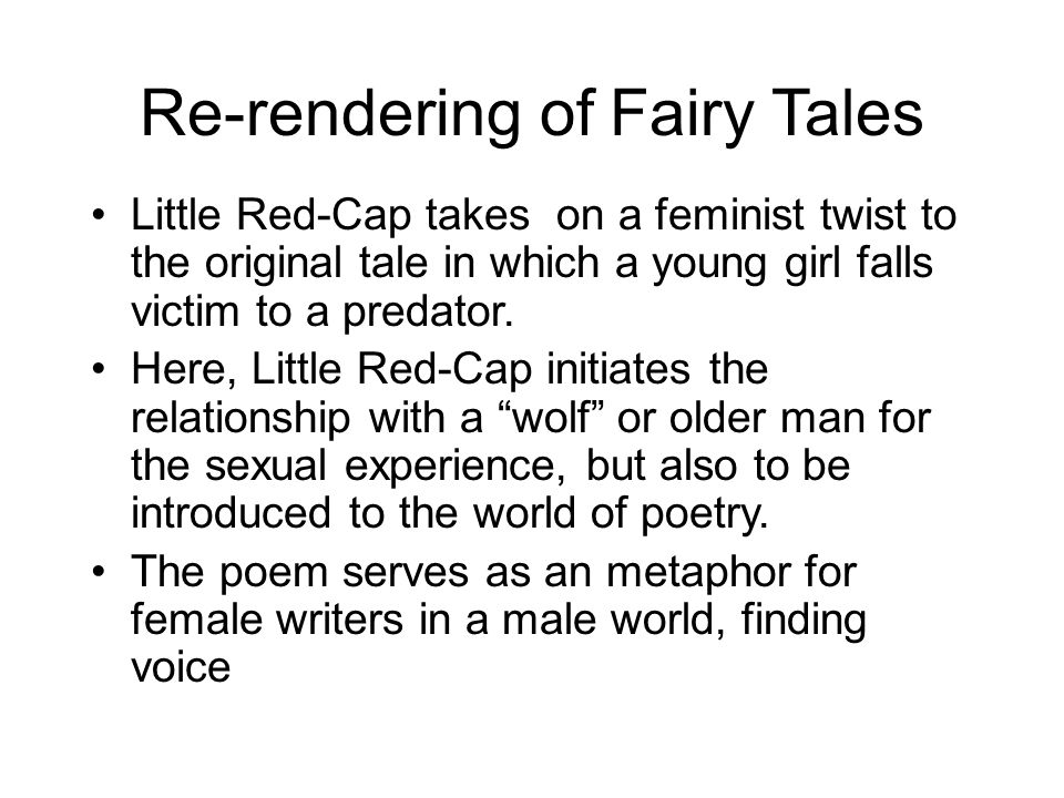 Re-rendering of Fairy Tales