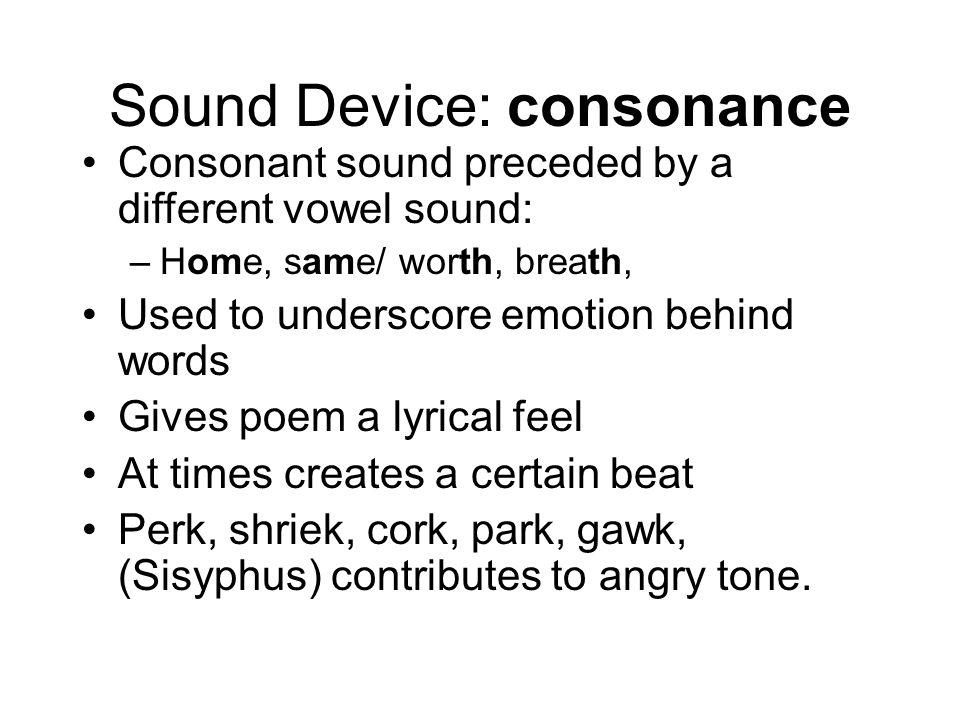 Sound Device: consonance