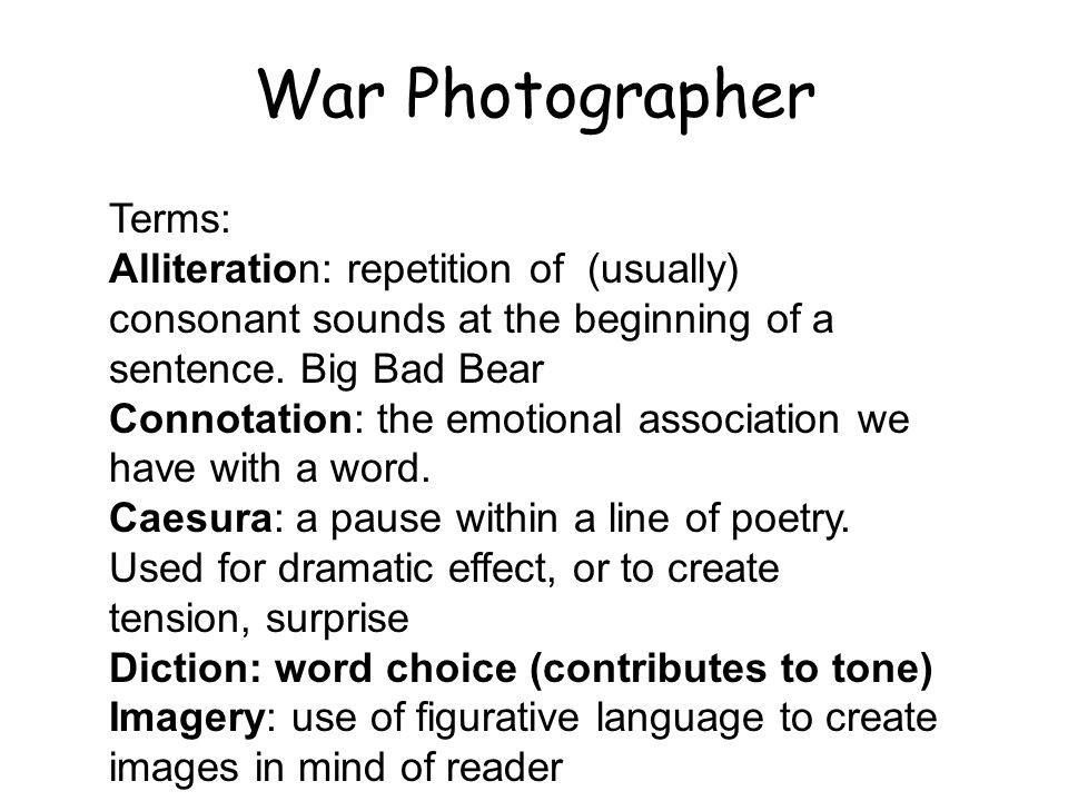 War Photographer Terms: