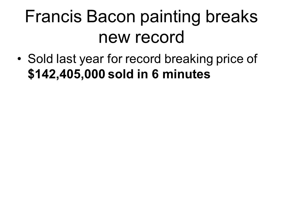 Francis Bacon painting breaks new record