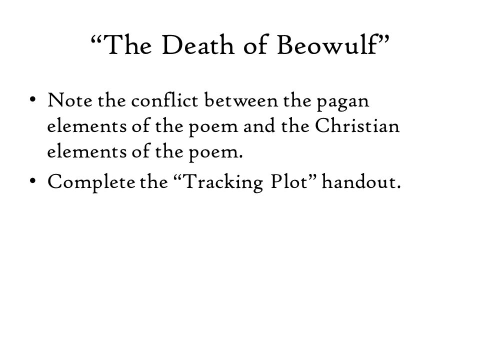 christian elements in beowulf