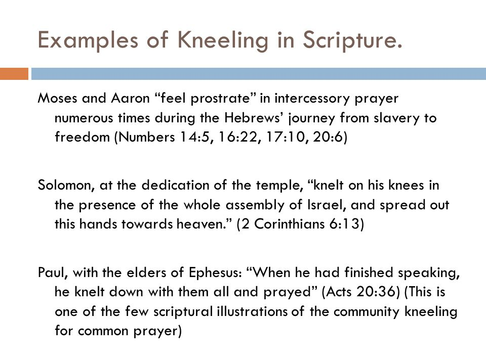 Examples of Kneeling in Scripture.