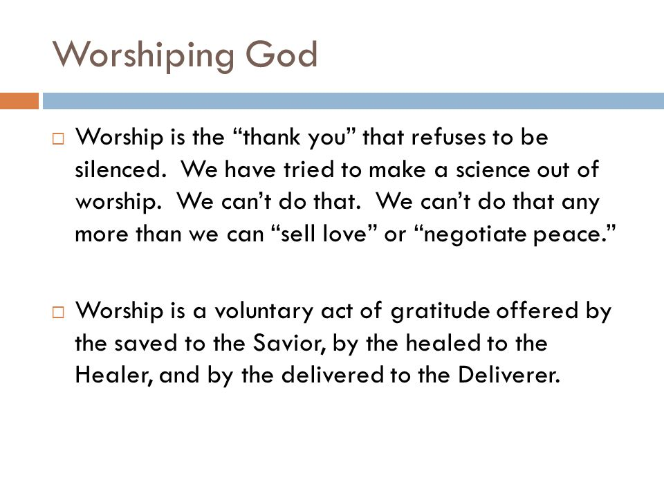 Worshiping God