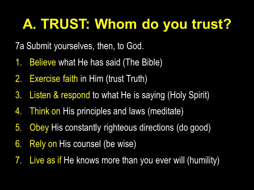A. TRUST: Whom do you trust