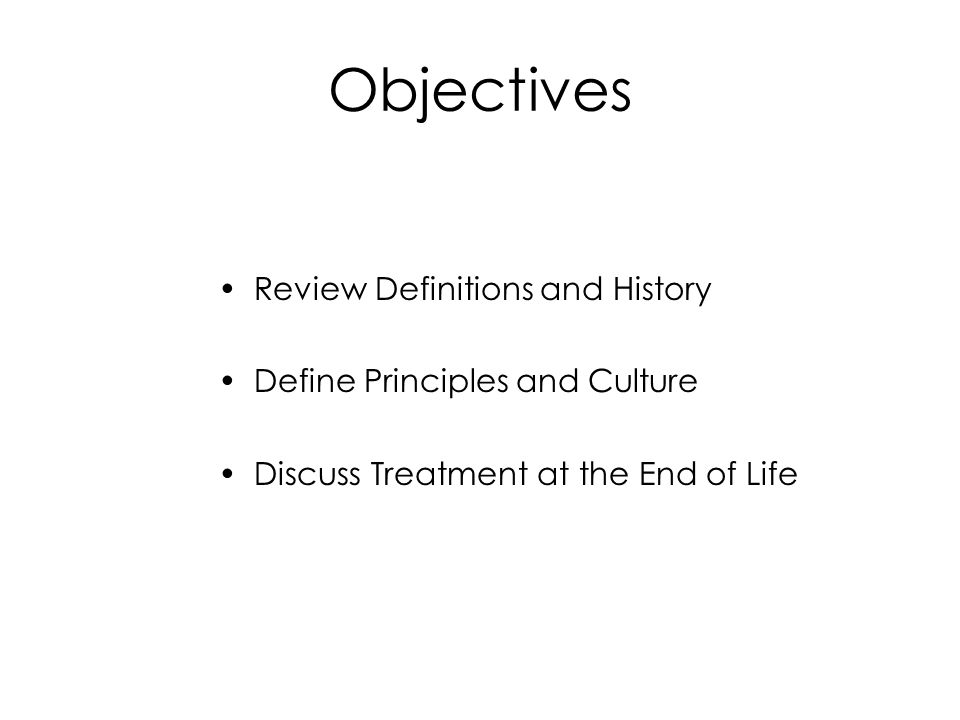 Objectives Review Definitions and History