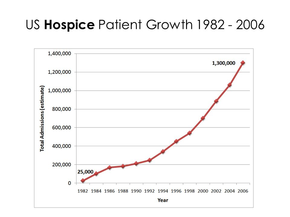 US Hospice Patient Growth 1982 - 2006