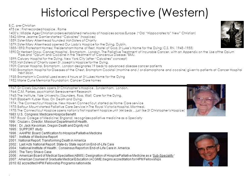 Historical Perspective (Western)