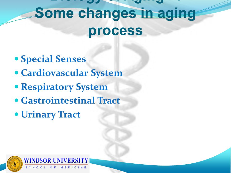 Biology of Aging -4 Some changes in aging process