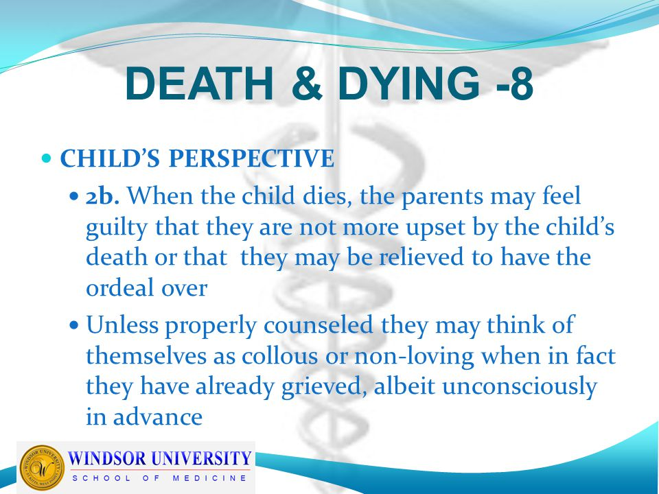 DEATH & DYING -8 CHILD'S PERSPECTIVE