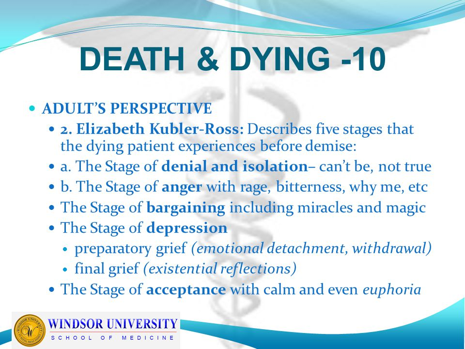 DEATH & DYING -10 ADULT'S PERSPECTIVE