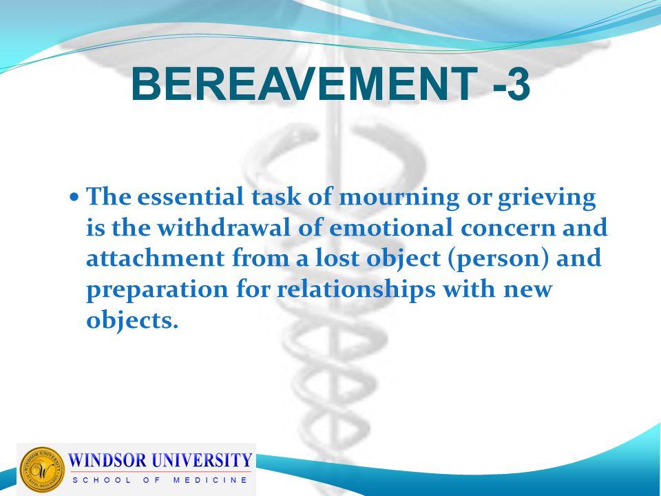 BEREAVEMENT -3