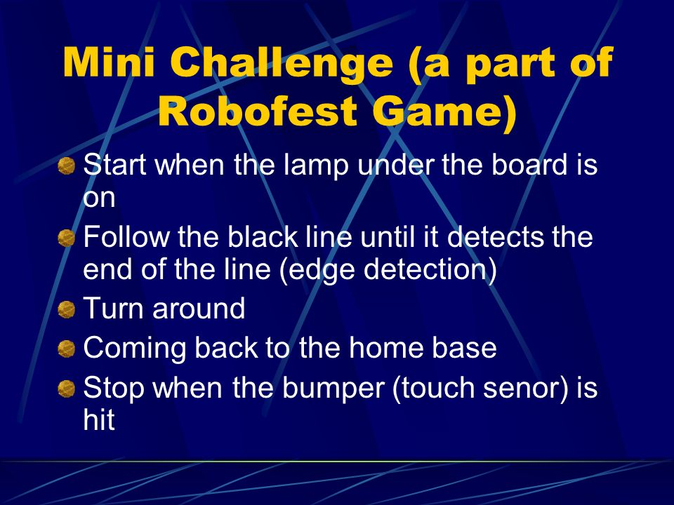 Mini Challenge (a part of Robofest Game)