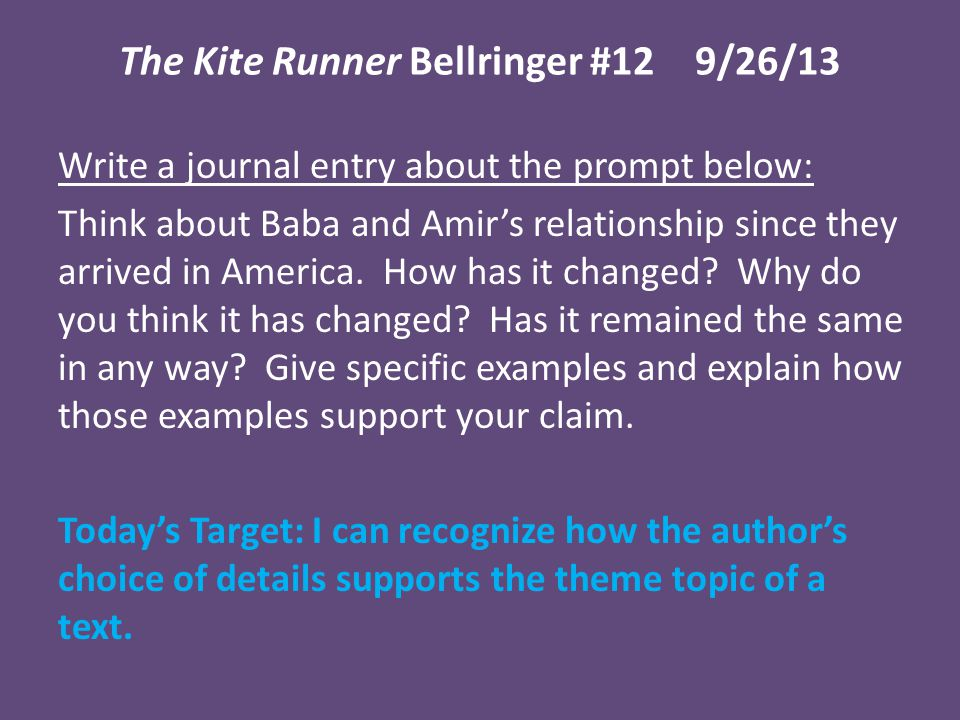 the kite runner how does Hey you must know that the novel kite runner is historical fiction yes, his books do give you an insight into afghanistan, but only about a certain period for example, kite runner is set in the time when the taliban regime collapsed.