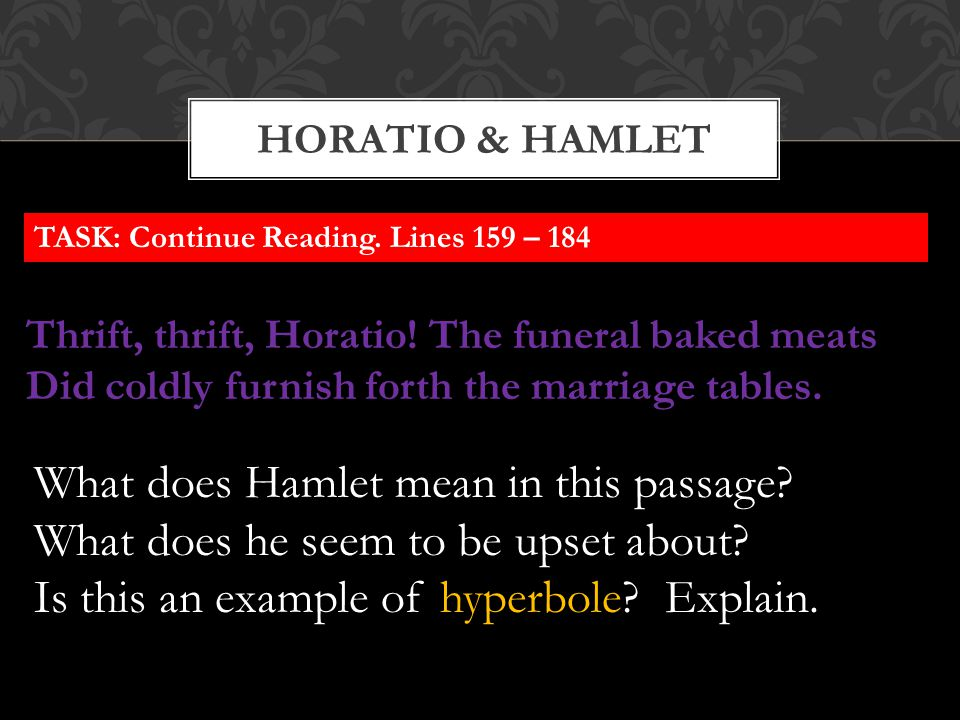 What does Hamlet mean in this passage