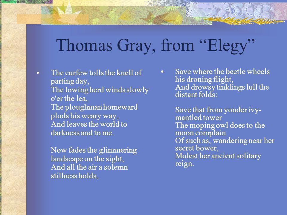 Thomas Gray, from Elegy