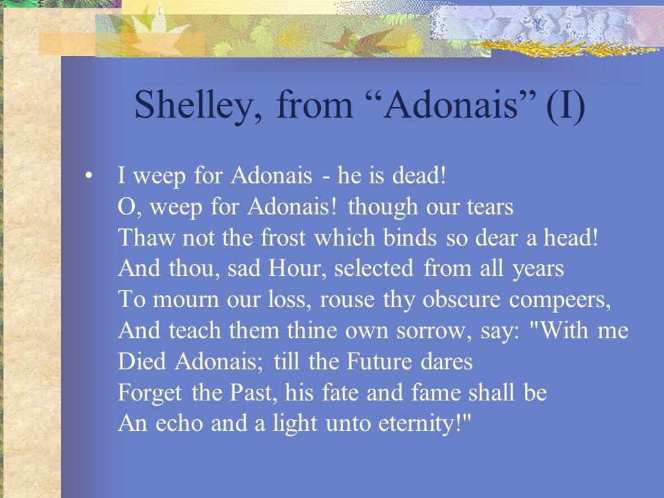 Shelley, from Adonais (I)