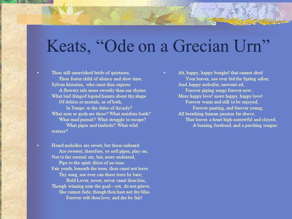 Keats, Ode on a Grecian Urn
