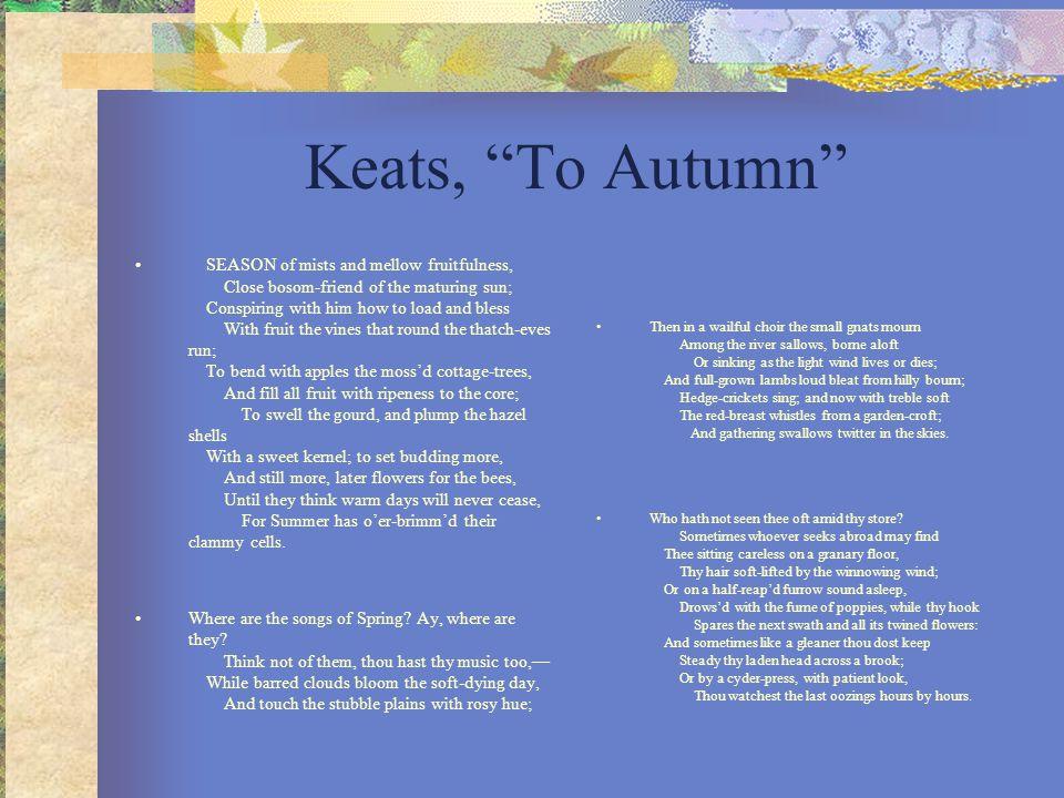 Keats, To Autumn