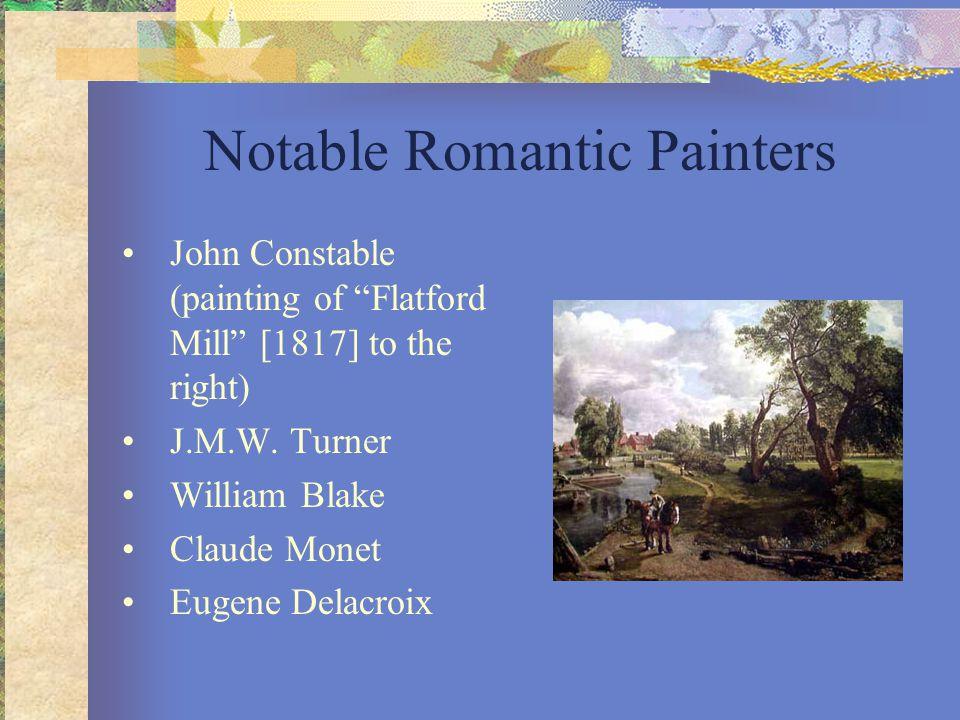 Notable Romantic Painters