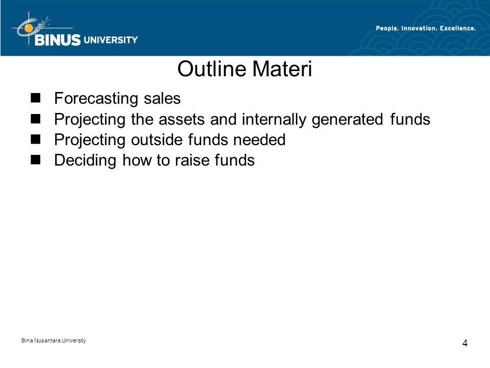Outline Materi Forecasting sales