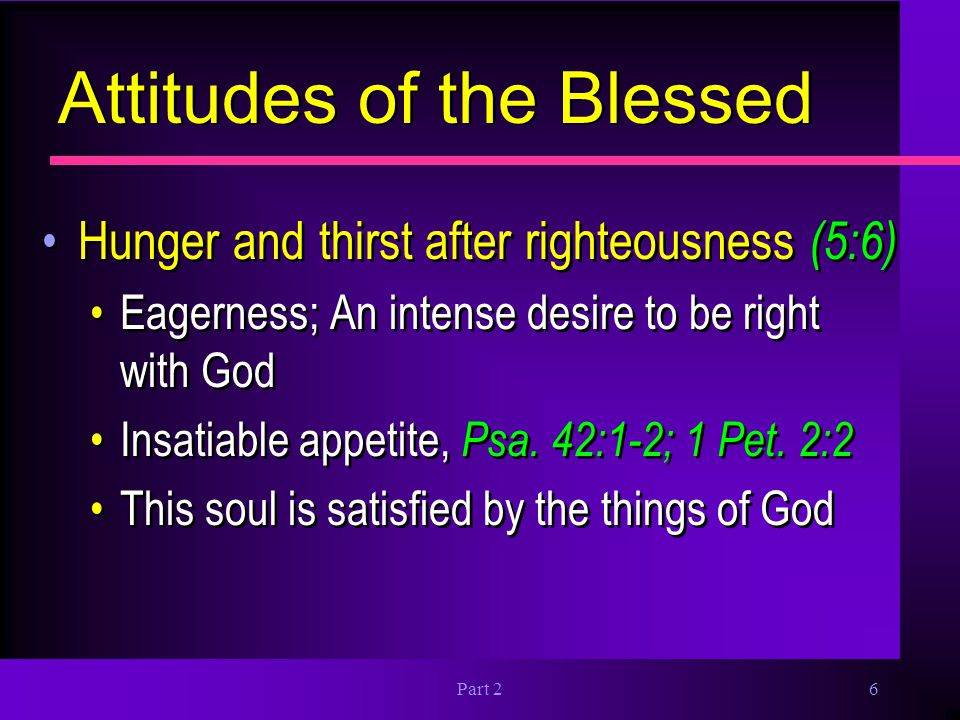 Attitudes of the Blessed