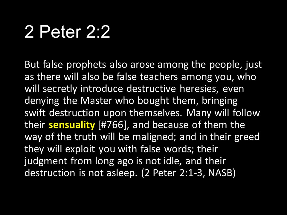 2 Peter 2:2