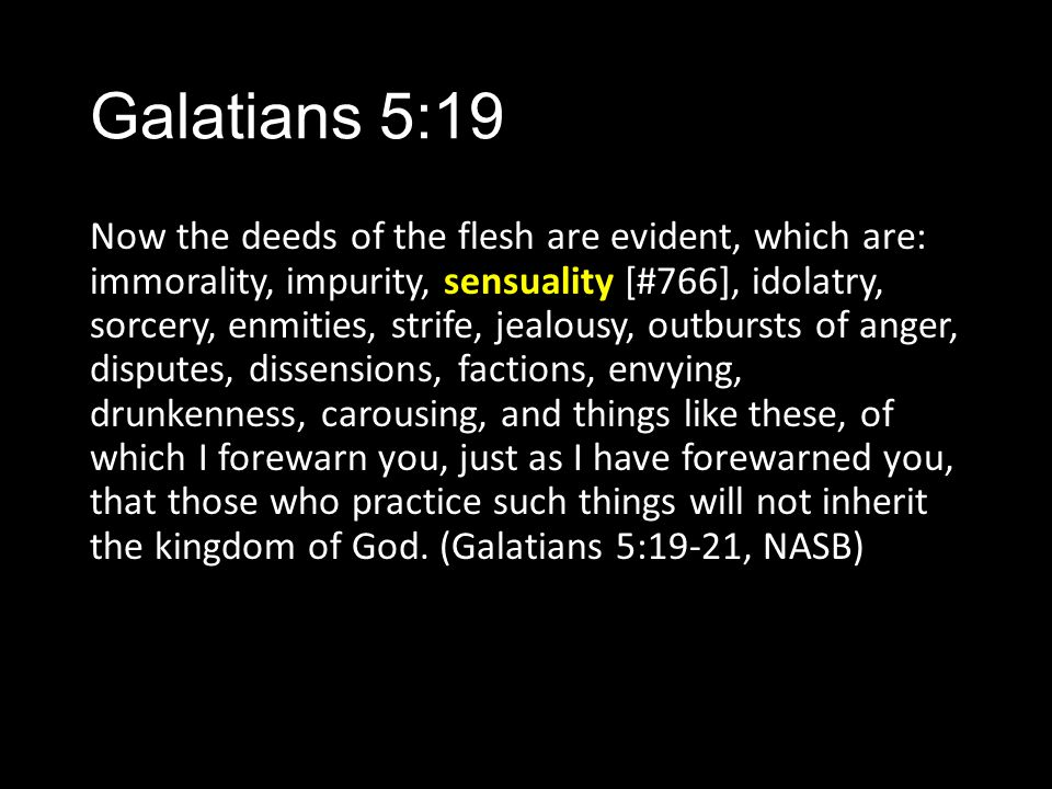 Galatians 5:19