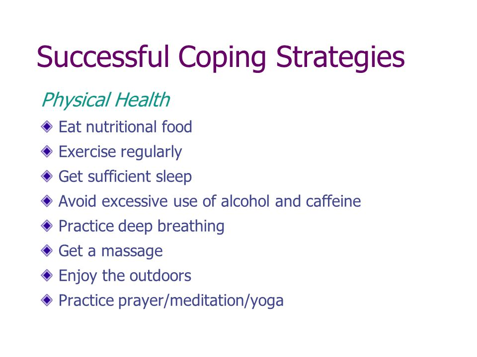 Successful Coping Strategies