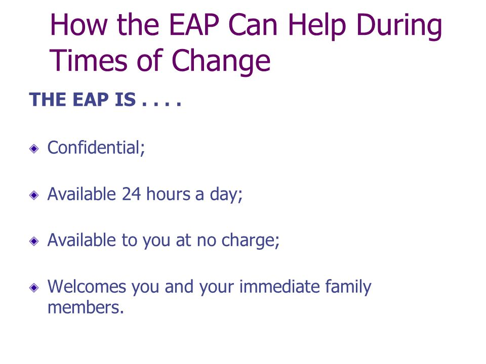 How the EAP Can Help During Times of Change