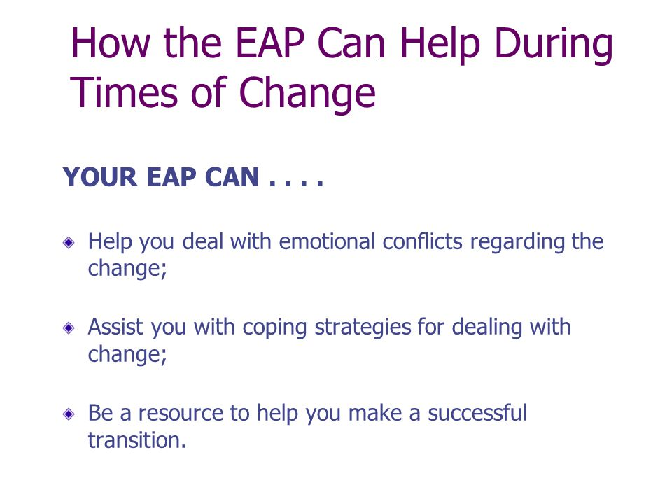 Your EAP is just a telephone call away