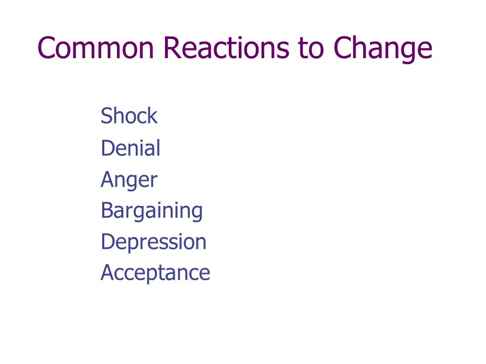 The Effects of Change