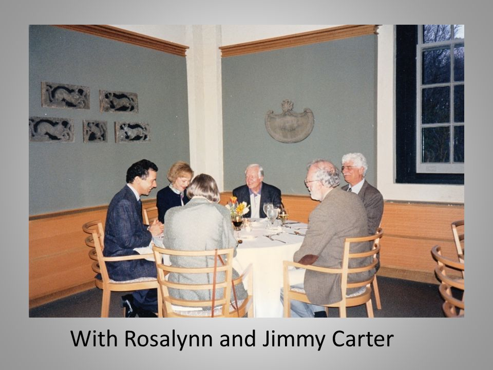 With Rosalynn and Jimmy Carter