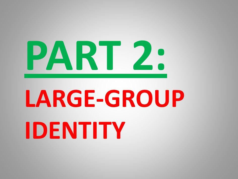 PART 2: LARGE-GROUP IDENTITY