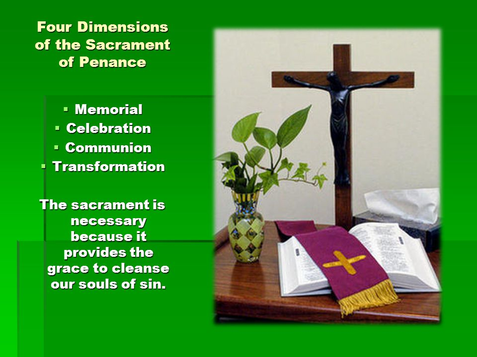 Four Dimensions of the Sacrament of Penance