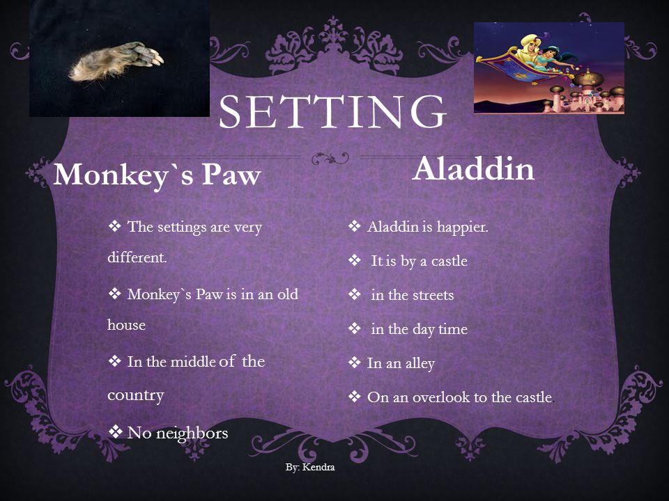 Setting Aladdin Monkey`s Paw No neighbors