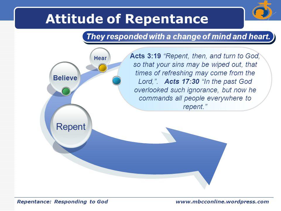 Attitude of Repentance