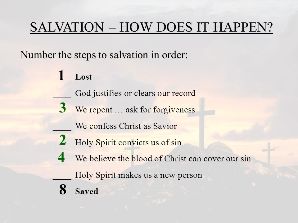 SALVATION – HOW DOES IT HAPPEN
